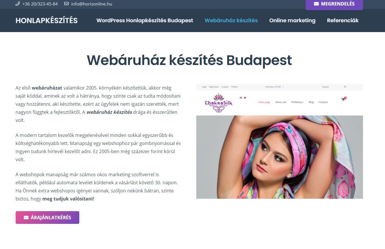 Webshop, webáruház készítése a lezárás alatt